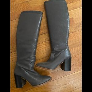 Zara tall leather boots, Size 38 (US 8)